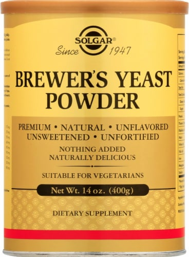 Solgar Brewer's Yeast Powder Perspective: front