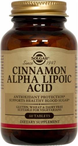 Solgar Cinnamon Alpha Lipoic Acid Tablets Perspective: front