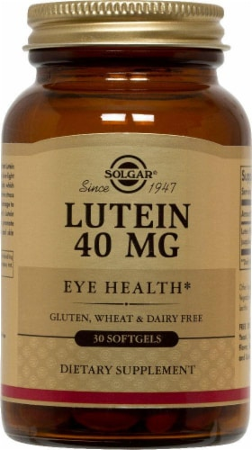 Solgar Lutein Eye Health 40 mg Softgels Perspective: front