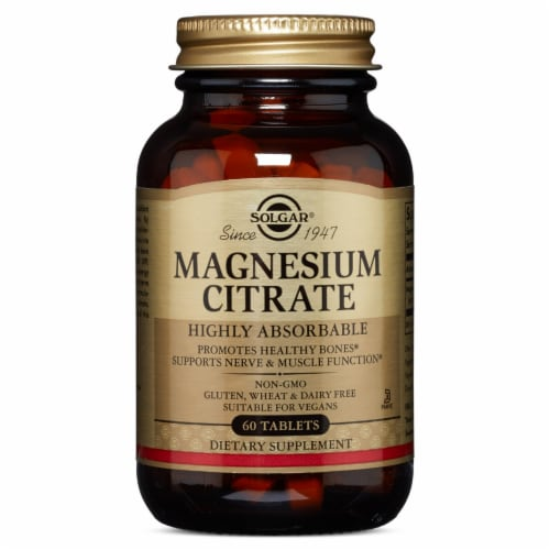 Solgar Magnesium Citrate Tablets Perspective: front