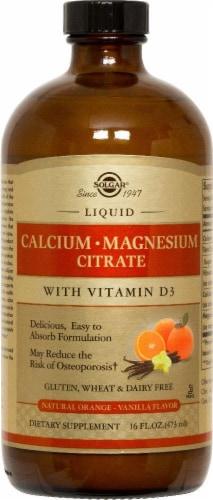 Solgar Orange Vanilla Flavor Calcium Magnesium Citrate Perspective: front