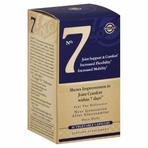 Solgar No 7 Joint Support Capsules Perspective: front
