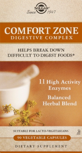 Solgar Comfort Zone Digestive Complex Capsules Perspective: front