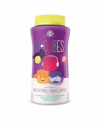 Solgar U-Cubes Multi-Vitamin & Mineral Gummies Perspective: front