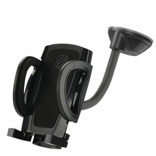Scosche stuckUP 4-in-1 Universal Smartphone & GPS Mounting Kit - Black Perspective: front