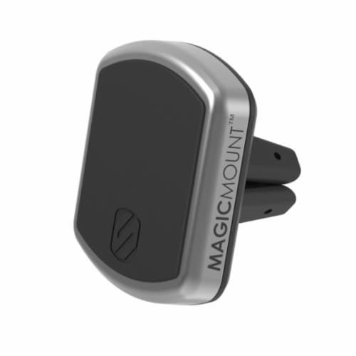 Scosche MagicMount Magnetic Mount for Mobile Devices - Silver Perspective: front