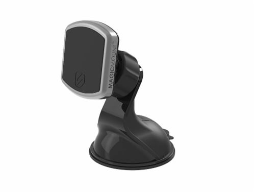 Scosche MagicMount Window and Dash Magnetic Mount for Mobile Devices - Silver/Black Perspective: front