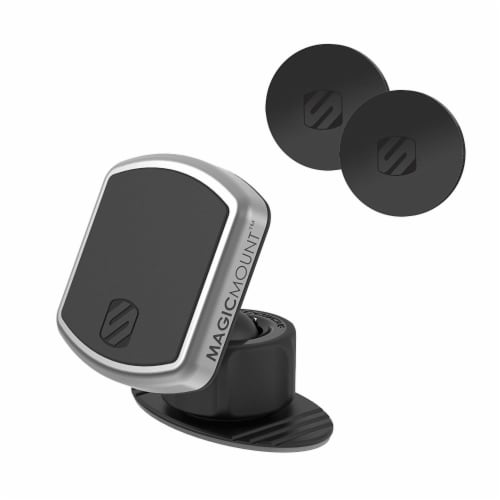 Scosche MagicMount™ Pro Universal Magnetic Smartphone Mount - Black/Silver Perspective: front