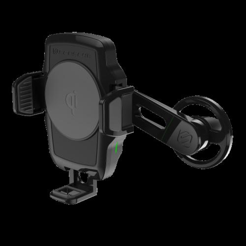 Qi Wireless Charging Universal Vent Pivot plastic 5-10W - Black Perspective: front