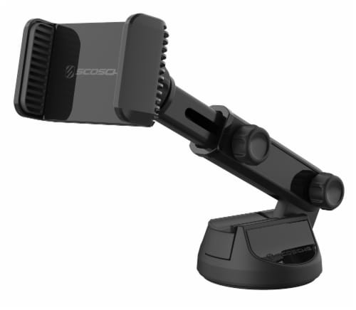 Scosche ExtendoMount Telescoping Phone/GPS Suction Cup Mount with Adjustable Arms - Black Perspective: front