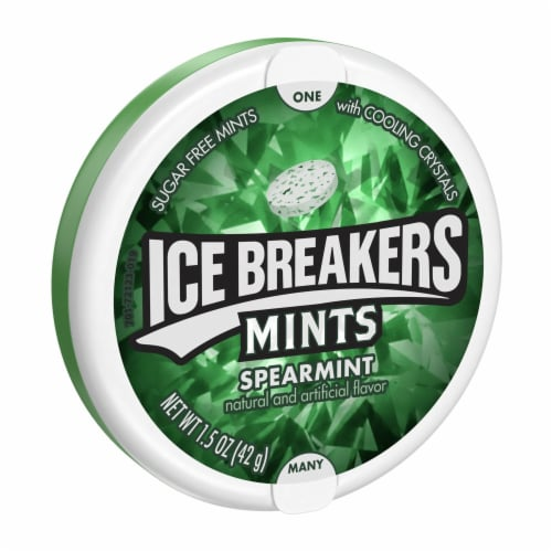 Ice Breakers Spearmint Sugar Free Mints Perspective: front