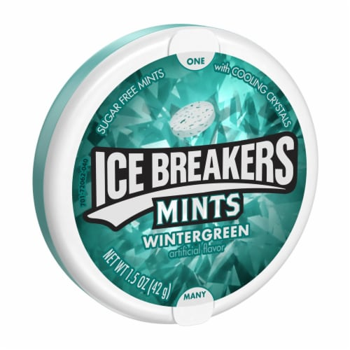 Ice Breakers Wintergreen Sugar Free Mints Perspective: front