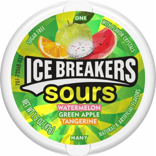 Ice Breakers Original Sours Sugar Free Mints Perspective: front