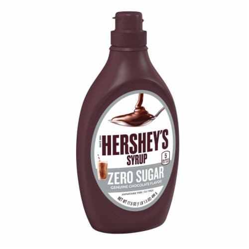 Hershey's Sugar Free Chocolate Syrup Perspective: front