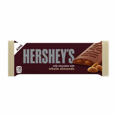 Hershey's Milk Chocolate with Almonds King Size Bar Perspective: front