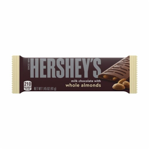 Hershey's Milk Chocolate with Almonds Candy Bar Perspective: front