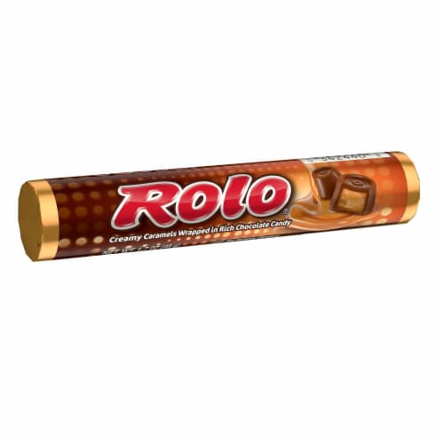 Rolo Creamy Caramels Wrapped in Rich Chocolate Candy Perspective: front