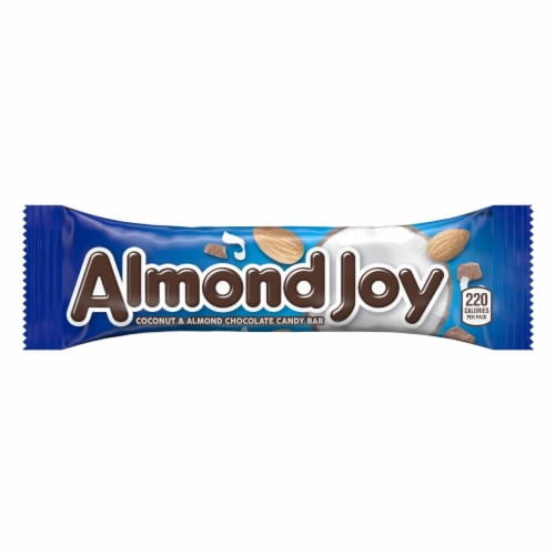 Almond Joy Coconut & Almond Chocolate Candy Bar Perspective: front