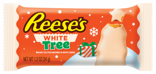 Reese's White Peanut Butter Tree Holiday Candy Perspective: front