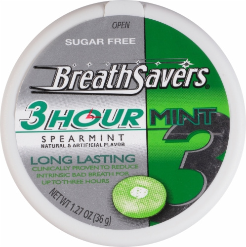 Breath Savers Spearmint 3 Hour Mints Perspective: front