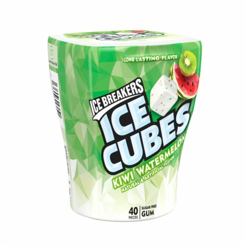 Ice Breakers Ice Cubes Kiwi Watermelon Flavored Gum Perspective: front