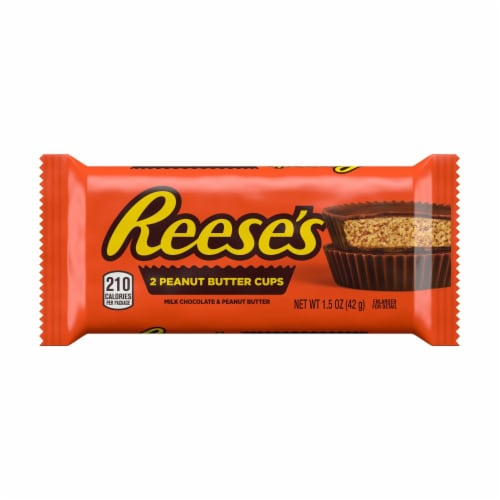 Reese's Gluten Free Milk Chocolate Peanut Butter Cups 2 Count Perspective: front