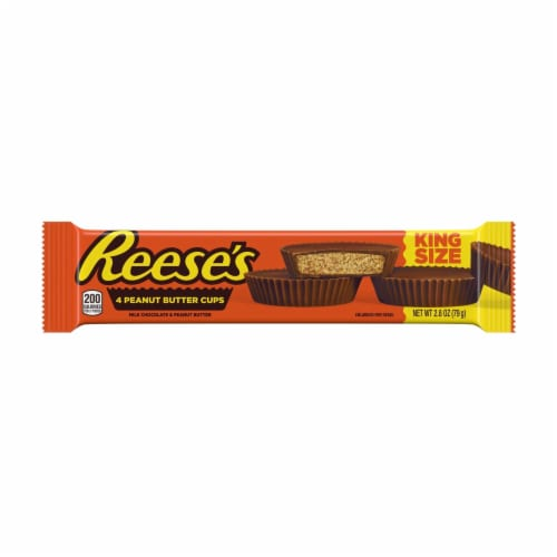 Reese's Milk Chocolate & Peanut Butter Cups King Size Perspective: front