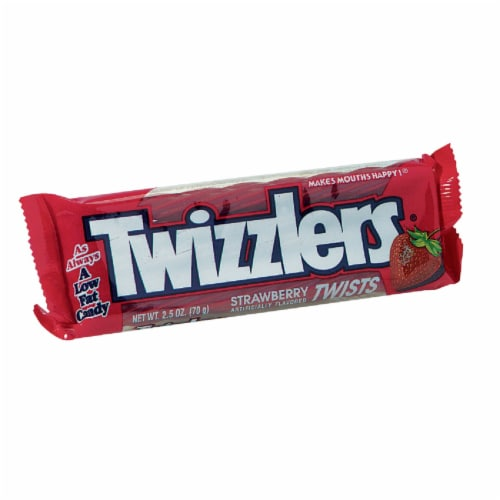 Twizzlers Twists Strawberry Liquorice 2.5 oz. - Case Of: 18; Perspective: front