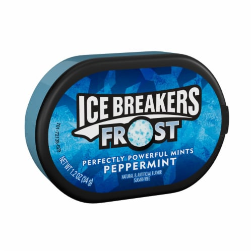Ice Breakers Frost Sugar Free Peppermint Mints Perspective: front