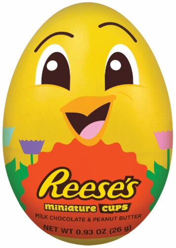 Reese's Easter Milk Chocolate & Peanut Butter Miniature Cups Filled Egg Perspective: front