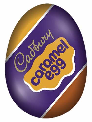 Cadbury Caramel Egg Milk Chocolate Candy Perspective: front