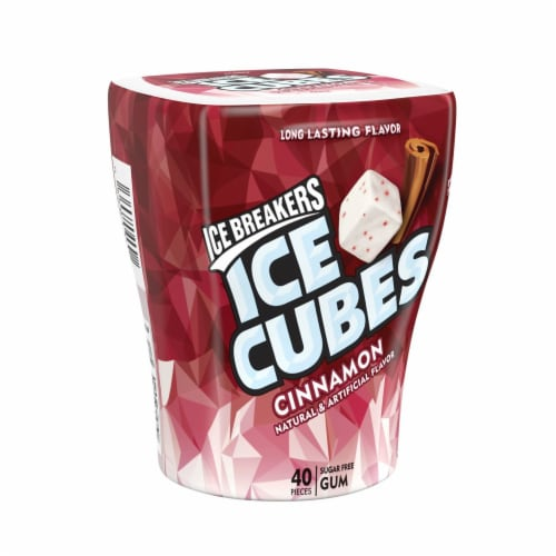 Ice Breakers Ice Cubes Sugar Free Cinnamon Flavored Gum Perspective: front