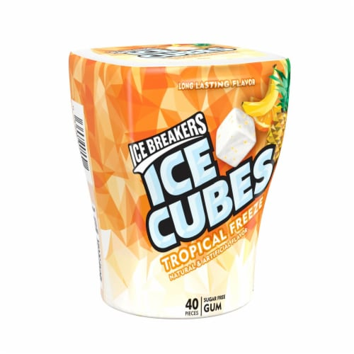 Ice Breakers Ice Cubes Tropical Freeze Chewing Gum Perspective: front