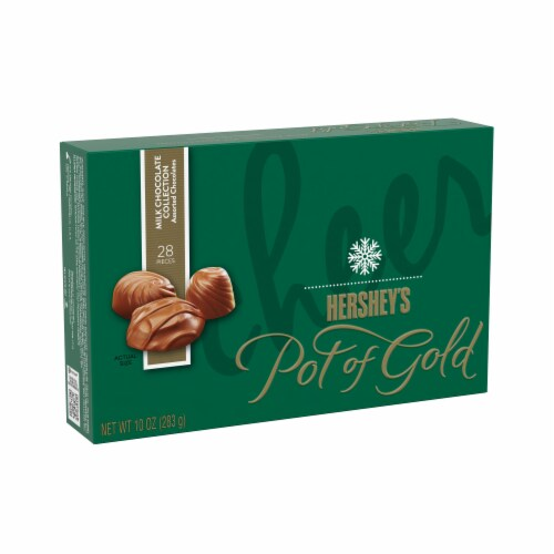 Hershey's Pot of Gold Assorted Milk Chocolate Collection Perspective: front