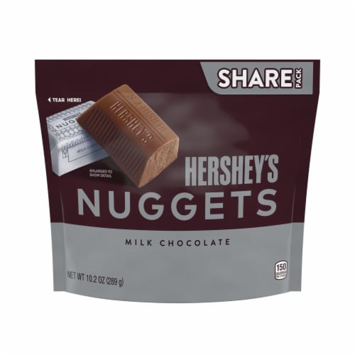 Hershey's Milk Chocolate Nuggets Perspective: front