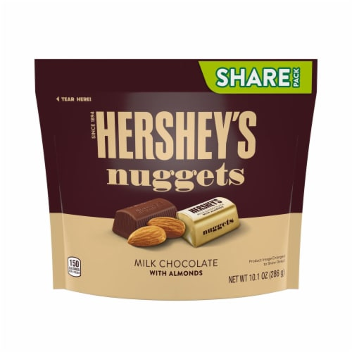 Hershey's Milk Chocolate with Almond Nuggets Perspective: front