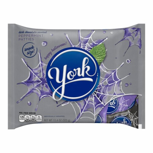 York Snack Size Peppermint Patties Halloween Candy Perspective: front