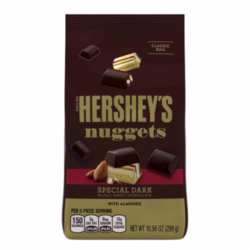 Hershey's Nuggets Dark Chocolate with Almonds Perspective: front