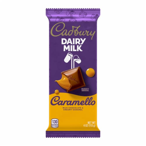 Cadbury Dairy Milk Caramello Chocolate Bar Perspective: front