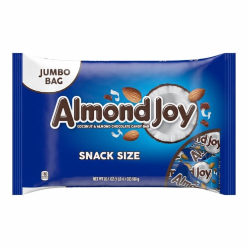 Almond Joy Snack Size Coconut & Almond Chocolate Candy Bars Perspective: front