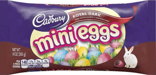 Cadbury Royal Dark Mini Eggs Candy Perspective: front