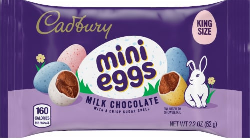 Cadbury Mini Eggs Candy Perspective: front