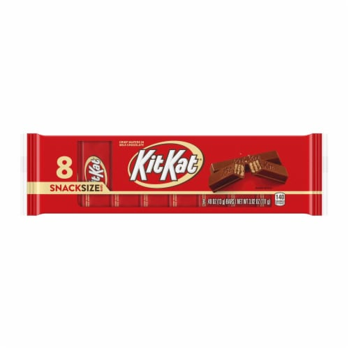 Kit Kat Wafer Candy Bars Snack Size Milk Chocolate Perspective: front