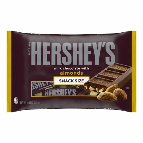 Hershey's Snack Size Milk Chocolate with Almonds Candy Bars Perspective: front