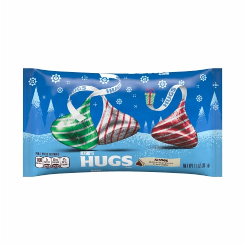 Hershey's Hugs Milk Chocolate and White Creme Kisses Holiday Candies Perspective: front
