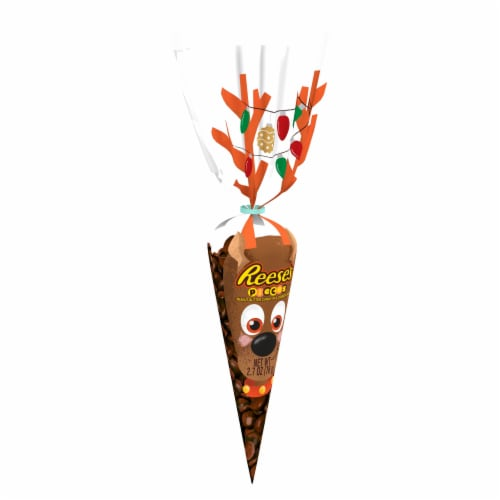 Reese's Pieces Holiday Candy in Reindeer Bag Perspective: front