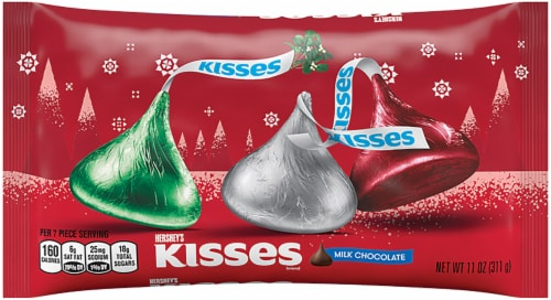 Hershey's Kisses Milk Chocolate Holiday Candy Perspective: front
