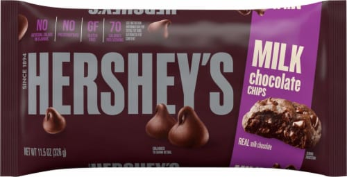 Hershey's Milk Chocolate Chips Perspective: front