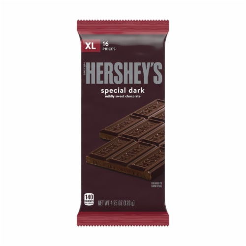 Hershey's Extra Large Special Dark Chocolate Bar Perspective: front