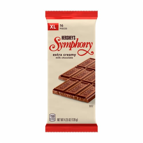 Hershey's Symphony Creamy Milk Chocolate Extra Large Candy Bar Perspective: front
